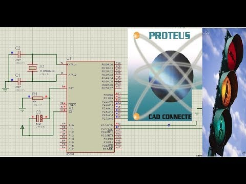 Proteus+8051,7 Segment Traffic light system + Assembly language by EEEWorks