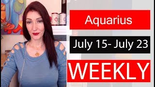 Aquarius Weekly Love Don't hold back now is the time July 15 to 20