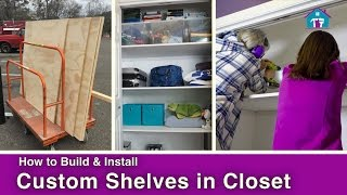 Join Vicki & Steph from Mother Daughter Projects as they install custom shelves in a hallway closet! For more details visit: http://www