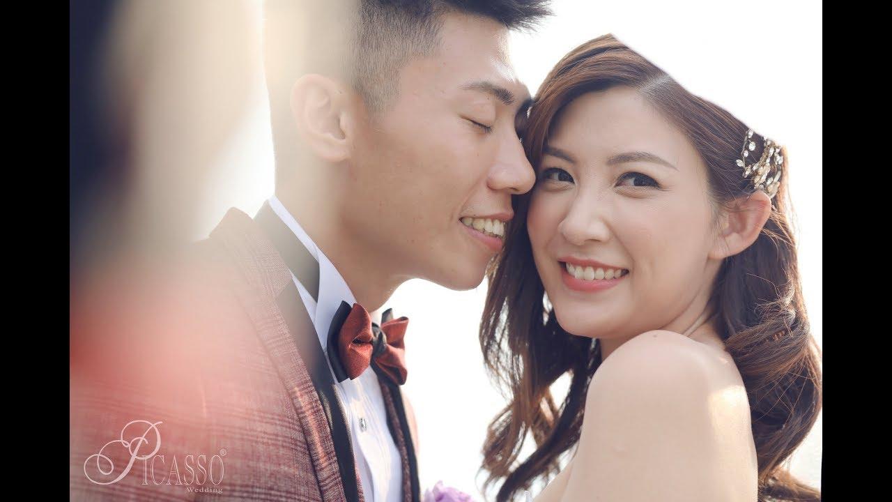 無線新聞小花 張文采 結婚出門花絮 by Picasso wedding - YouTube