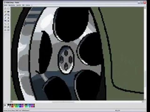 Re: How to draw a car in MS. Paint