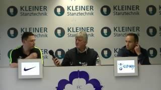 FC Nöttingen - 1  FC Saarbrücken| Pressekonferenz nach dem Spiel 29. Spieltag 16/17