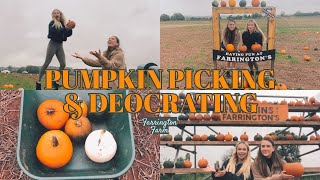 PUMPKIN PICKING AND DECORATING | FARRINGTON FARM || MELODY AND AMY
