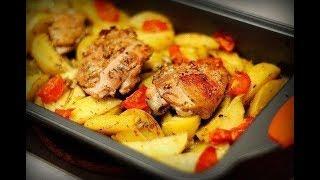 Запеченная курица с картофелем готовим дома/ Рецепт запеченной курицы с картофелем