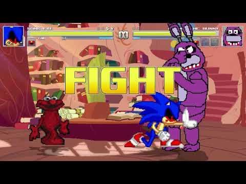 AN Mugen Request #1234: Sonic.exe & Elmo VS Homer, Pinkamena, Bonnie, Elmo
