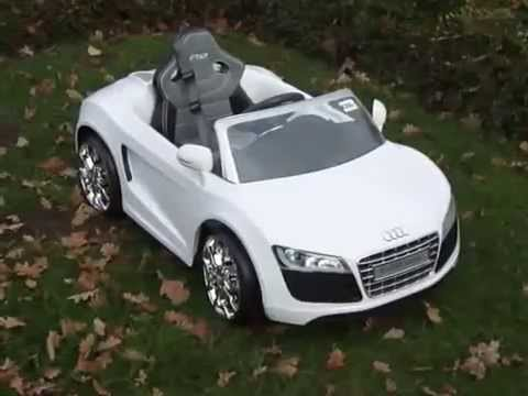 Fonkelnieuw Elektrische kinderauto Audi R8 met afstandsbediening - YouTube QM-07