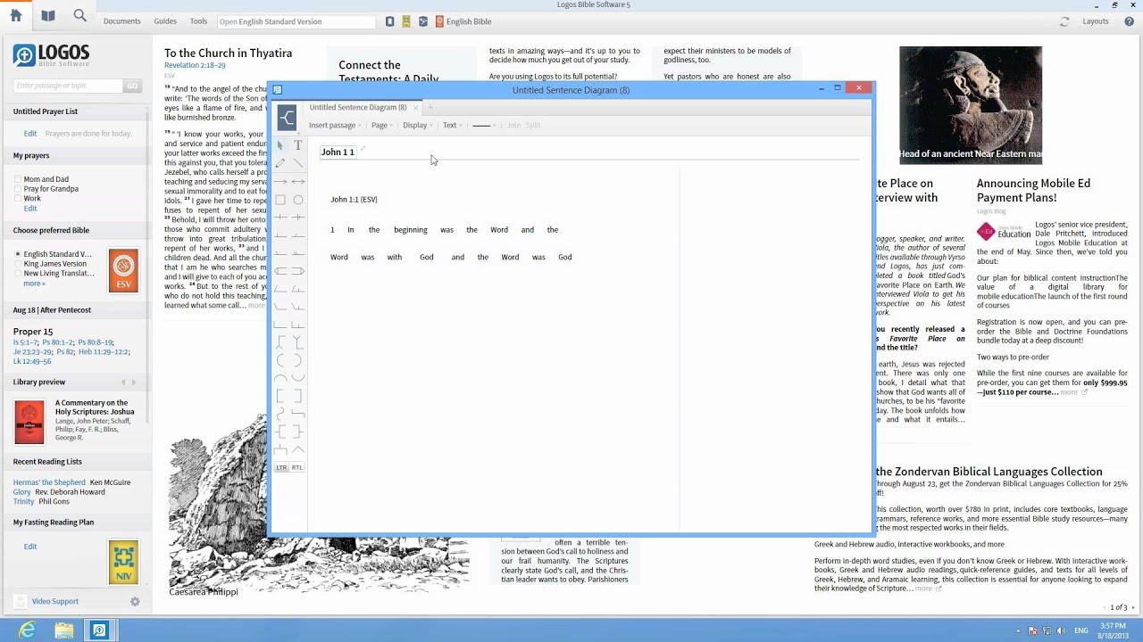 medium resolution of logos 5 tutorial how to use sentence diagramming logos bible software