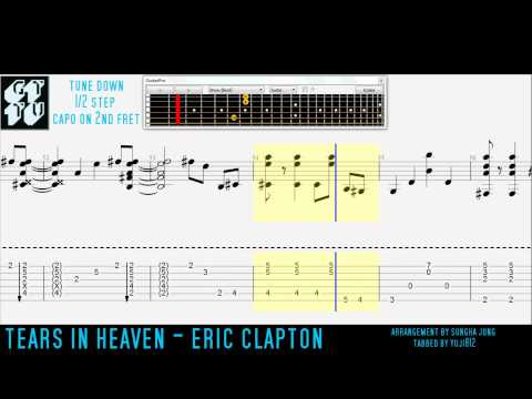 Tears In Heaven Eric Clapton Fingerstyle Acoustic Guitar Pro TABS Sungha Jung