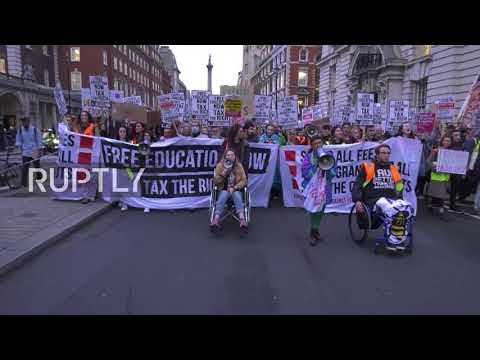 UK: Thousands call for rich to be taxed to fund higher education