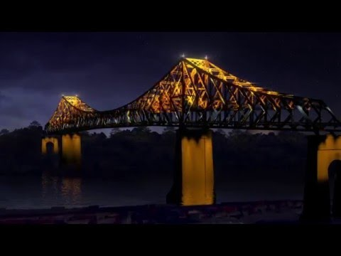 Illumination du pont Jacques-Cartier en 2017