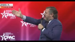 Ted Cruz tries to joke about Cancun… and falls on his face