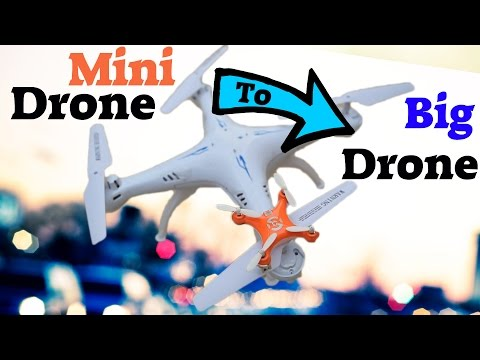 DIY How To Make Nano Drone Bigger ! Cheap RC Drone Hack