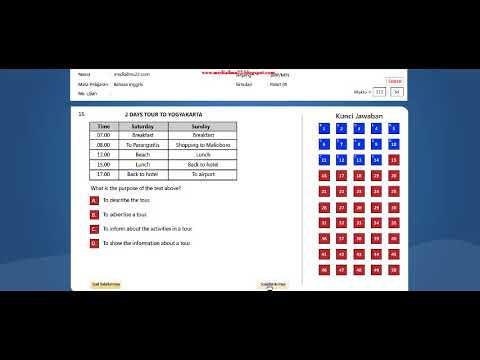 Soal Latihan Simulasi UNBK Bahasa Inggris SMP 2017 2018 (soal dan jawaban)