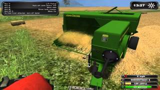 Farming Simulator 2011 Balling with IMT 533 and John Deere 348