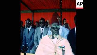 SYND 30 4 77 INAUGURATION OF NEW SUBMARINE TELECOMMUNICATIONS CABLE IN SENEGAL