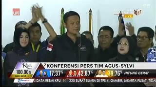 konferensi pers pasangan agus yudhoyono sylvi setelah perhitungan suara