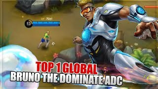 How to become MLBB Pro: Bruno The Dominate ADC - Top 1 Global Bruno Build - Mobile Legends