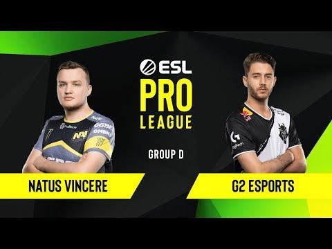 CS:GO - G2 Esports Vs. Natus Vincere [Mirage] Map 2 - Group D - ESL EU Pro League Season 10