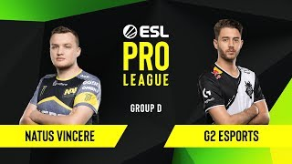 CS:GO - G2 Esports vs. Natus Vincere [Mirage] Map 2 - Group D - ESL EU Pro League Season 10