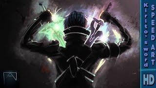 Dark repulser and elucidator 3d speedart - SAO (cinema 4D)