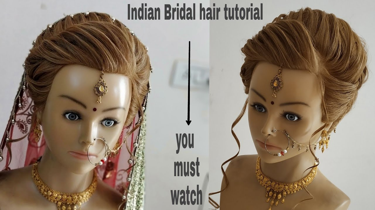 indain bridal hairstyle 2018 /indian bridal hairstyles/wedding hairstyle  bridal bun/bridal bun.