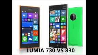 lumia 730 vs 830