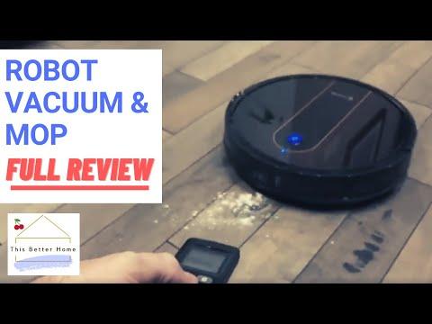 Robot Vacuum Cleaner/Mop Combo➔ **FULL REVIEW** How Well Does It Clean Hardwood, Tile, AND Carpet?