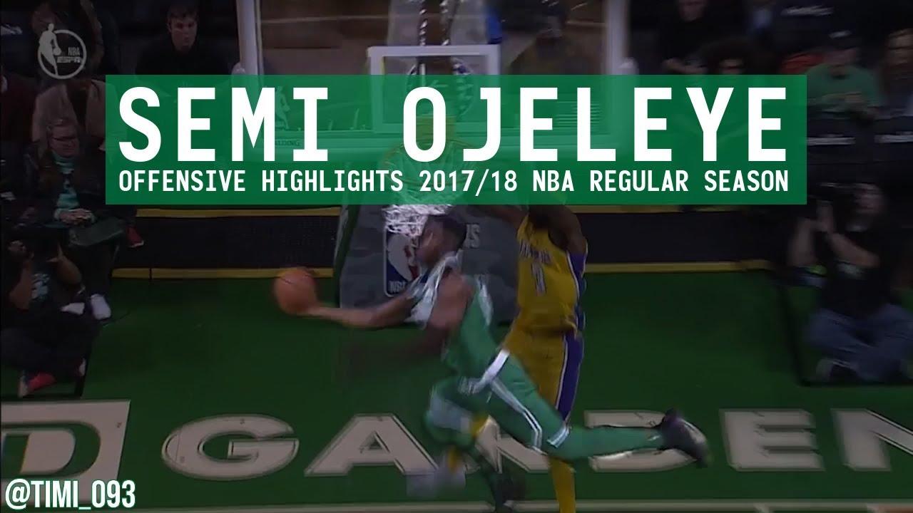 9ab8f5030b15 Semi Ojeleye Offensive Highlights 2017 18 NBA Regular Season - YouTube