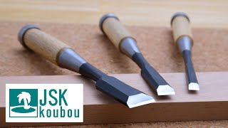 【With subtitles】How to Preparing new Japanese chisels for reliable service