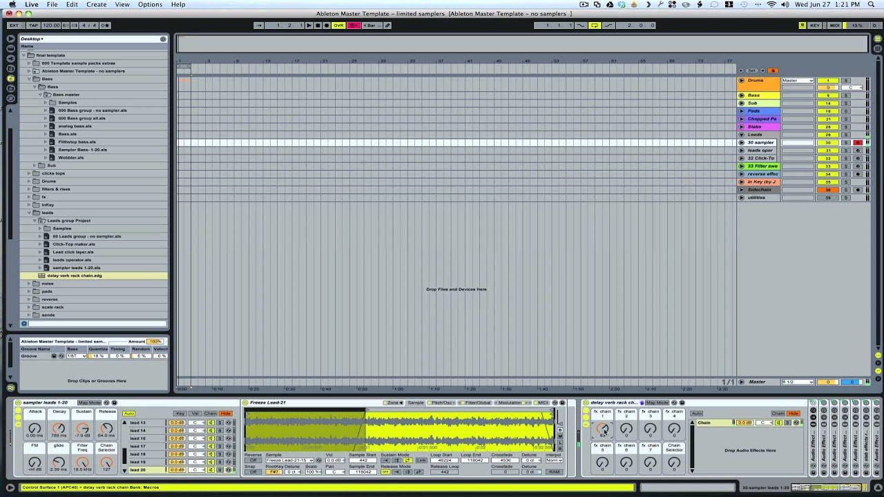 Ultimate Ableton Master Template walkthrough | Ableton Tutorial ...