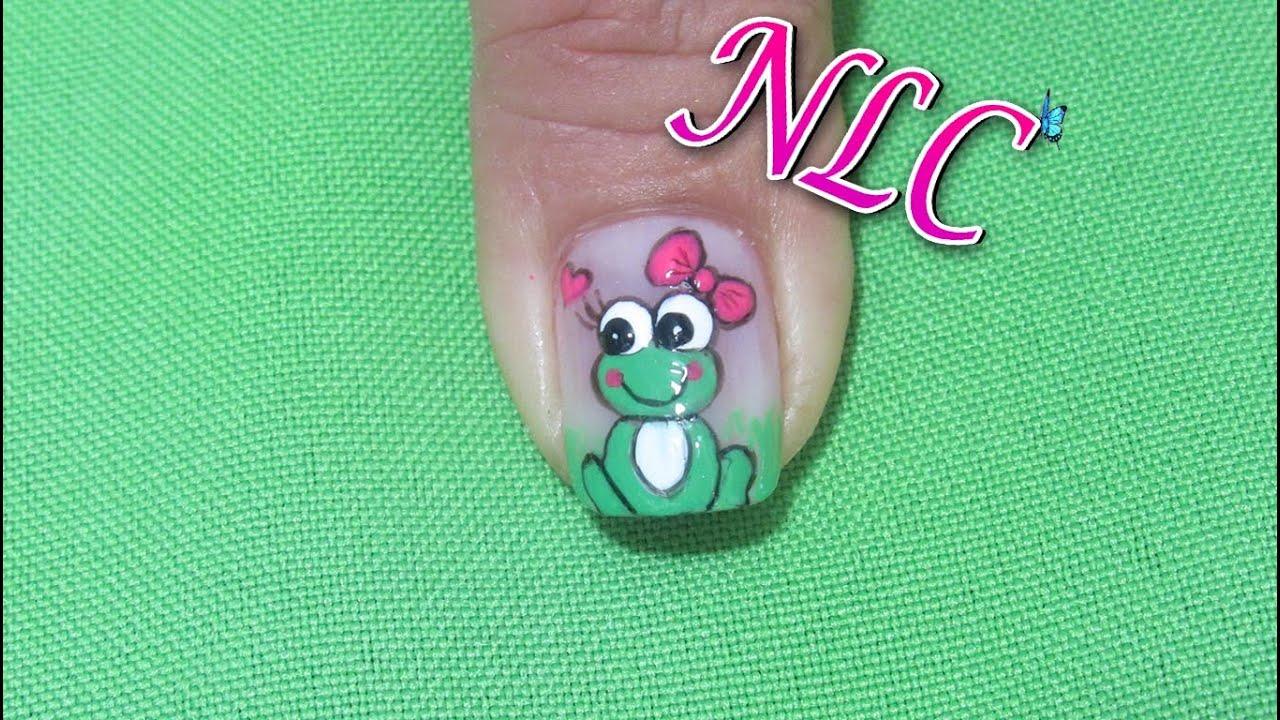 Decoracion de uñas Ranita - Como Pintar ranitas - Frog Nail art ...