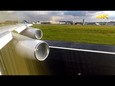 MASSIVE Pratt & Whitney ROAR!! Corsair BOEING 747 Take Off from Paris Orly!