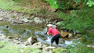 Рыбалка в Карпатах. Ловля голавля. 1-я Часть.