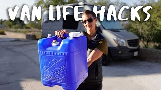 Simple And Useful Water Jug Hack for Off-Grid Van Life