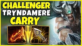 #1 TRYNDAMERE DESTROYS EX LCS TOPLANER (INSANE GAME) - League of Legends