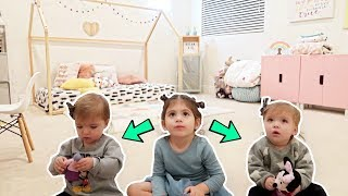 TODDLER GIVES TWINS ROOM TOUR!