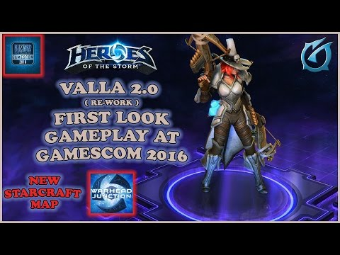 Grubby | Heroes of the Storm | Valla Re-work - FIRST LOOK Gameplay at Gamescom 2016