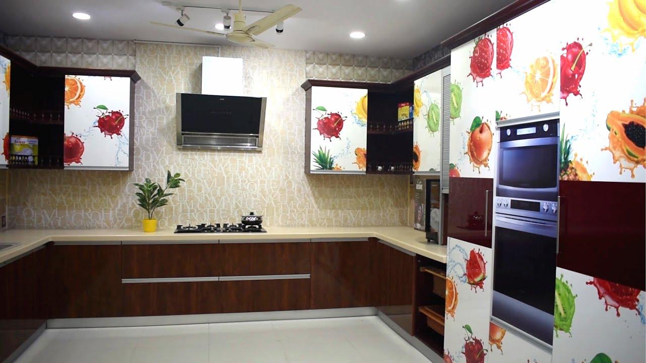 Digital Laminated Modular Kitchen Showroom Display By Space Designs  Vijayawada Hyderabad 9