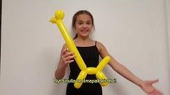 HOW TO MAKE A BALLOON GIRAFFE (video in English) tekstitys!