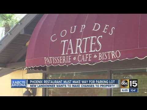 Phoenix restaurant Coup Des Tartes must make way for parking