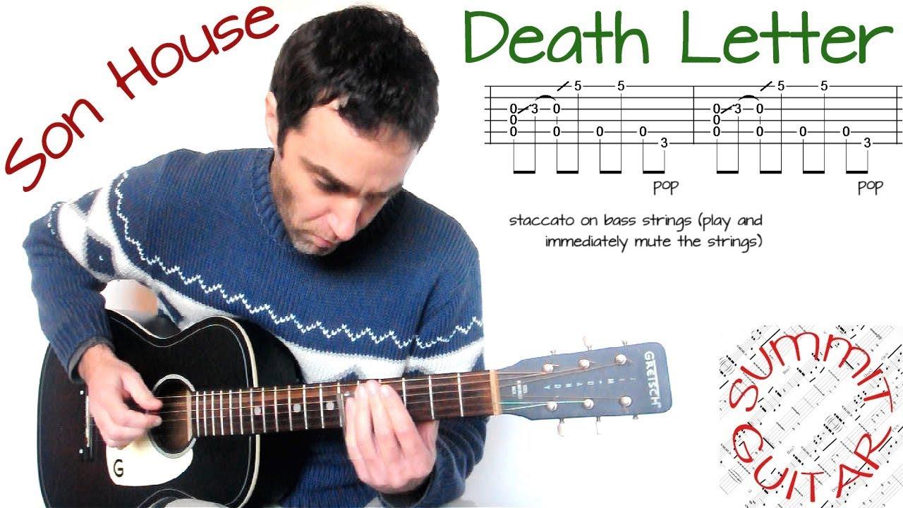 Son House   Death Letter   Slide guitar lesson / cover / tutorial
