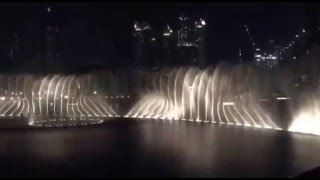 Burj khalifa Dancing Fountains 2016 Arabic Music