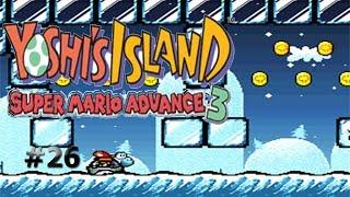 ¡Odio los niveles resbaladizos!/Yoshi´s Island: Super Mario Advance 3 #26