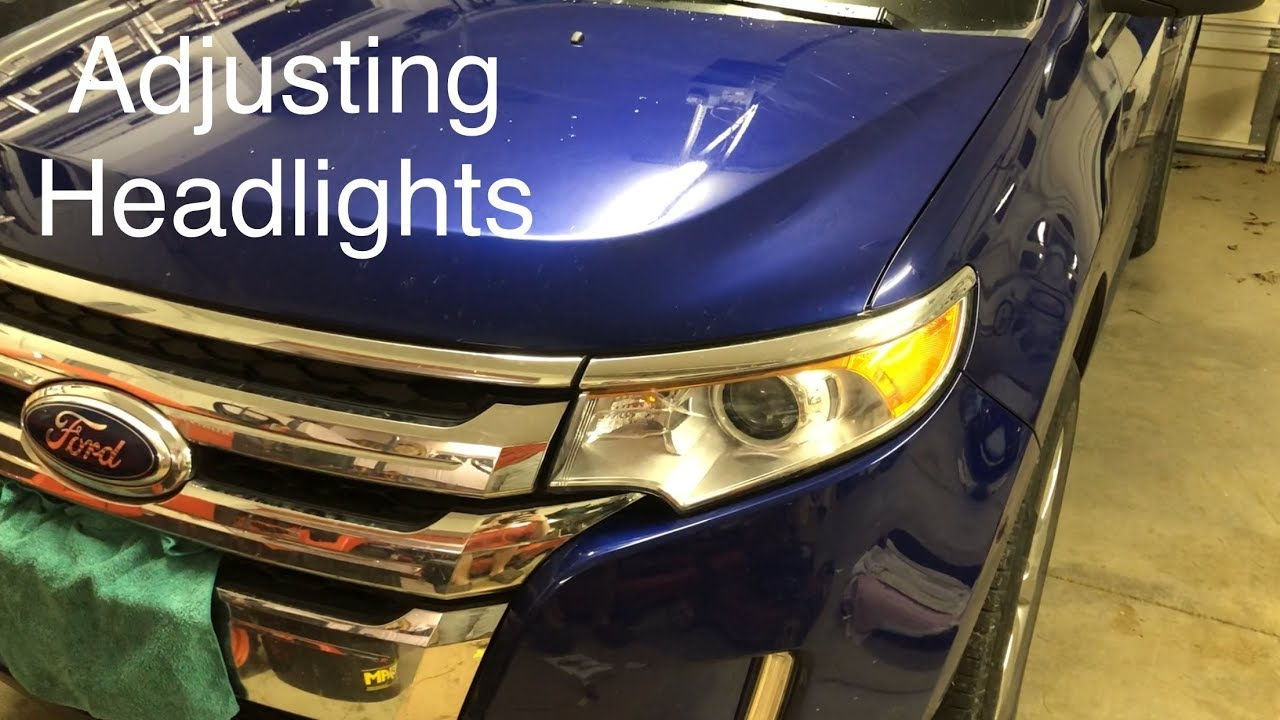 How to Adjust Headlight Beam Height on a Ford Edge - YouTube