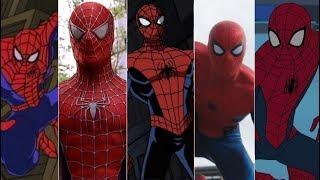 Эволюция Человека Паука в мультфильмах и кино