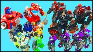 Transformers Rescue Bots Optimus Prime Chase Bumblebee Boulder Heatwave Battle Imaginext Robots Toys