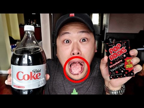 SCARY POP ROCKS AND DIET COKE EXPERIMENT!!