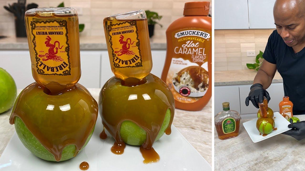 Fireball Caramel Apple
