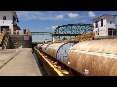 Genesee Beer Tanks Passing Through Lock 8 Erie Canal System