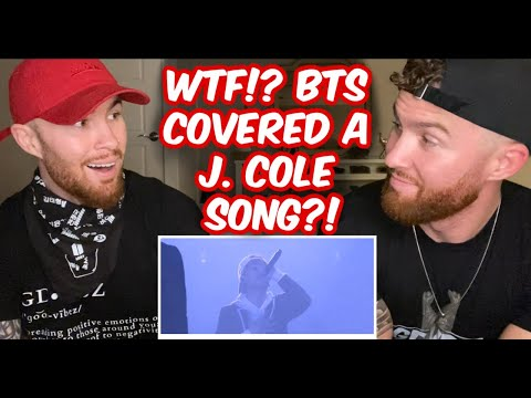 Identical Twins Reaction to BTS 'Born Singer' Live - J. Cole Cover!! WTF!